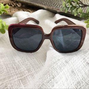 Zara Brown Gold Trim Sunglasses
